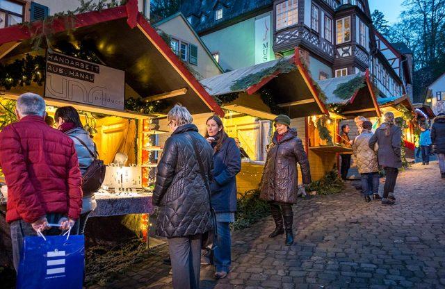 Stände Weihnachtsmarkt Miltenberg